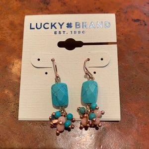 NWT Lucky Brand Turquoise Earrings
